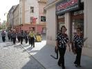 FSU Jihlava - cesta ulicemi Jihlavy na nedelní vystoupení